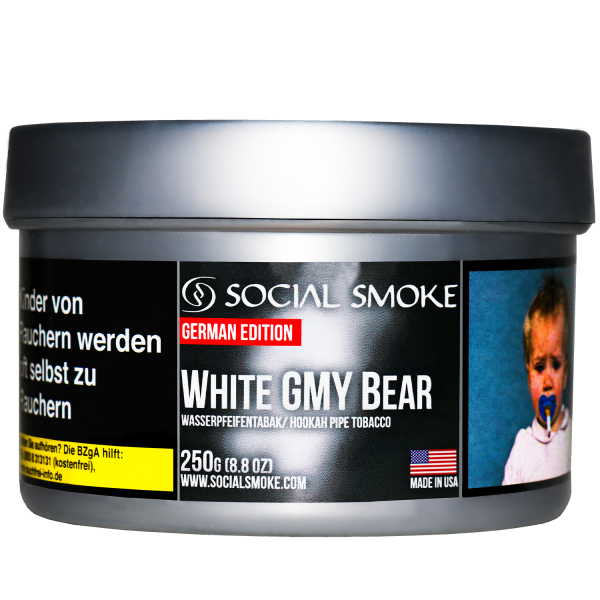 Social Smoke Tobacco 250 g - WHITE GMY BEAR