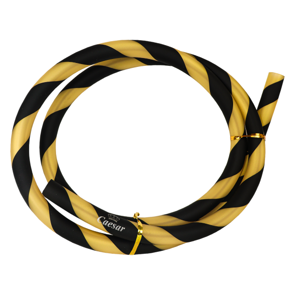 Silikonschlauch - Matt Striped - Black/Golden
