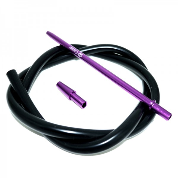 Silikonschlauch Set - Purple - Black